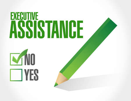 md: no executive assistance approval sign concept illustration design graphic