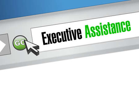 subordinate: executive assistance website sign concept illustration design graphic Illustration