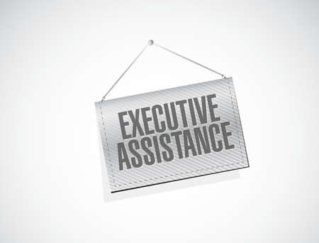 subordinate: executive assistance banner sign concept illustration design graphic Illustration
