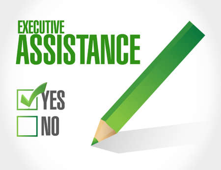 md: executive assistance approval sign concept illustration design graphic Illustration