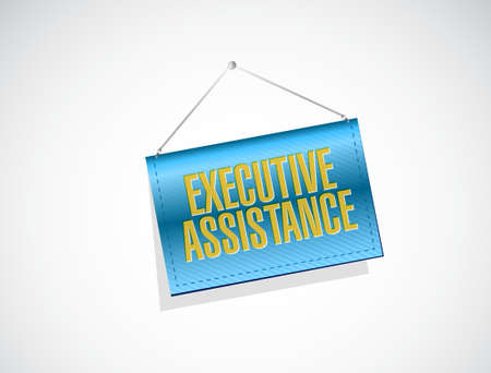 md: executive assistance banner sign concept illustration design graphic Illustration