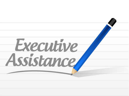 md: executive assistance message sign concept illustration design graphic Illustration