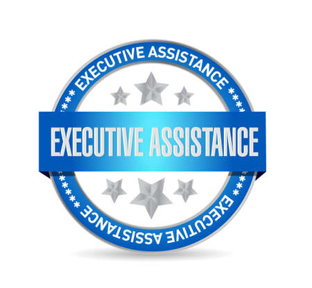 md: executive assistance seal sign concept illustration design graphic