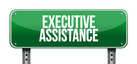 md: executive assistance street sign concept illustration design graphic Illustration
