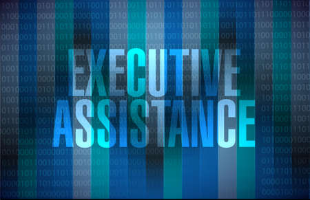 md: executive assistance binary sign concept illustration design graphic