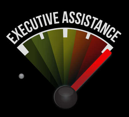 subordinate: executive assistance meter sign concept illustration design graphic Illustration