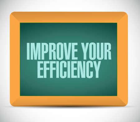 Improve Your Efficiency chalkboard sign concept illustration design graph Illustration
