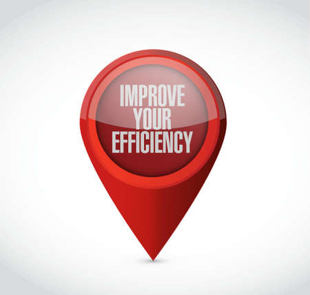 proficiency: Improve Your Efficiency pointer sign concept illustration design graph