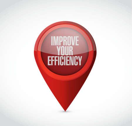 Improve Your Efficiency pointer sign concept illustration design graph