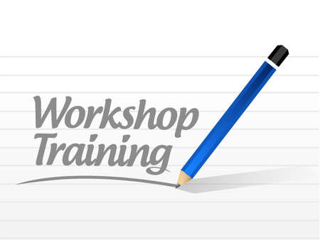 studing: Workshop training message sign concept illustration design graphic Illustration