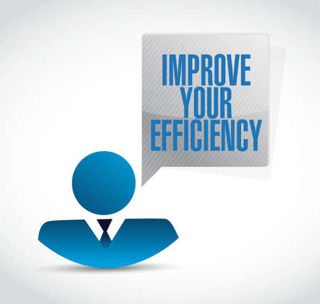 communication capability: Improve Your Efficiency businessman sign concept illustration design graph Illustration