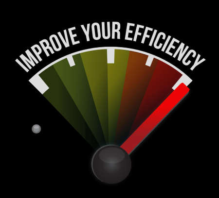 accomplish: Improve Your Efficiency meter sign concept illustration design graph