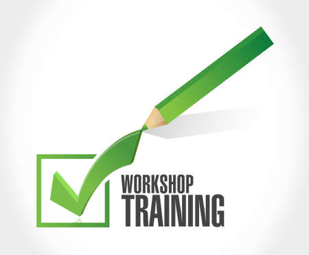 workshop seminar: Workshop training check mark sign concept illustration design graphic