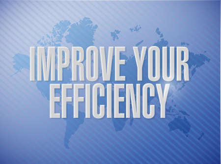 competent: Improve Your Efficiency world map sign concept illustration design graph