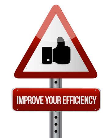 Improve Your Efficiency like sign concept illustration design graph