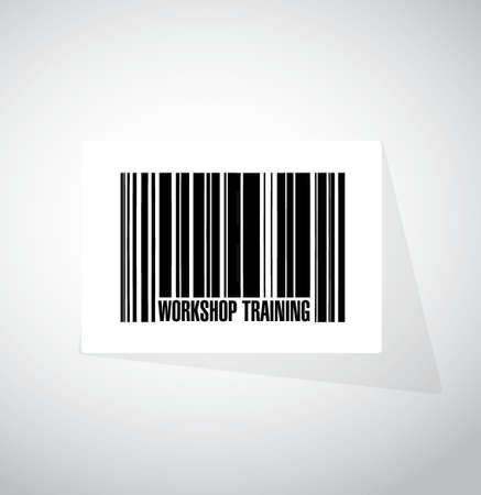 Workshop training barcode sign concept illustration design graphic Ilustração