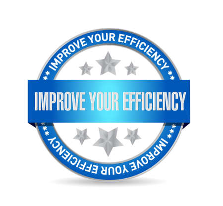 accomplish: Improve Your Efficiency seal sign concept illustration design graph Illustration