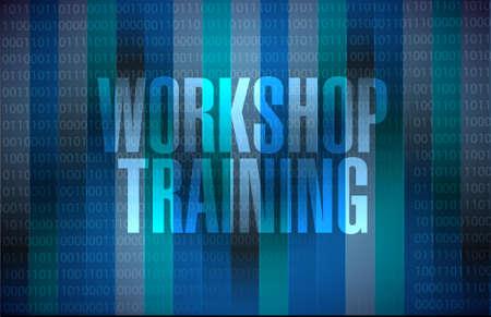 Workshop training binary background sign concept illustration design graphic Ilustração