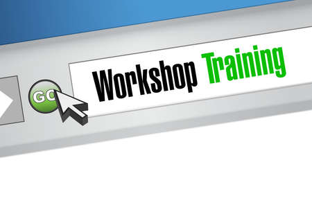 studing: Workshop training website sign concept illustration design graphic