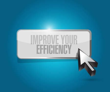 accomplish: Improve Your Efficiency button sign concept illustration design graph