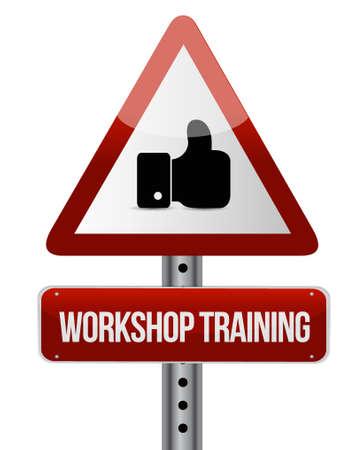 Workshop training like sign concept illustration design graphic