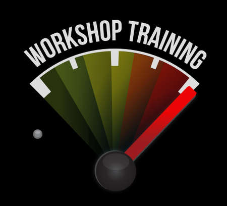 studing: Workshop training meter sign concept illustration design graphic Illustration