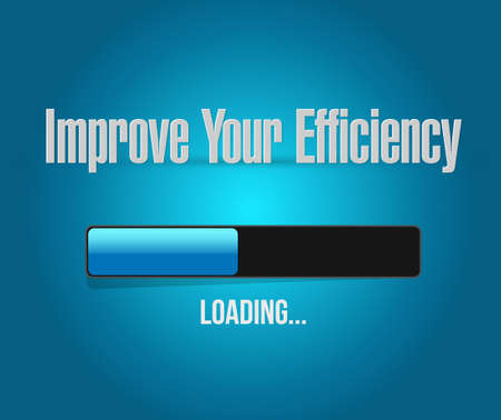 accomplish: Improve Your Efficiency loading bar sign concept illustration design graph