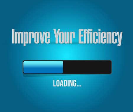 eficiencia: Mejorar la eficiencia de carga de barras signo concepto gráfico, ilustración, diseño