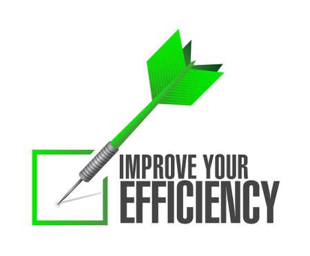 Improve Your Efficiency check dart sign concept illustration design graph Illustration