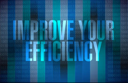 accomplish: Improve Your Efficiency binary background sign concept illustration design graph