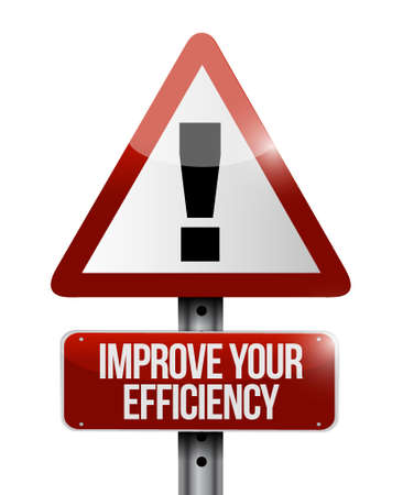 proficiency: Improve Your Efficiency warning road sign concept illustration design graph