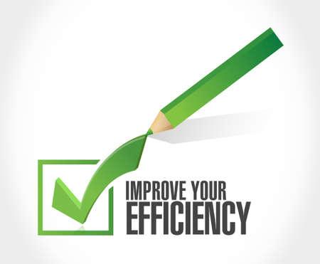 Improve Your Efficiency check mark sign concept illustration design graph