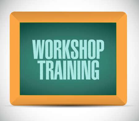 Workshop training chalkboard sign concept illustration design graphic