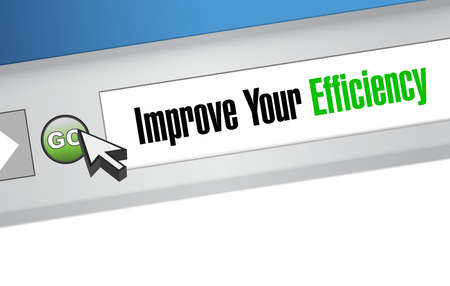 accomplish: Improve Your Efficiency website sign concept illustration design graph Illustration