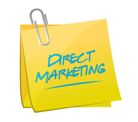 memo: direct marketing memo post sign concept illustration design graphic Illustration