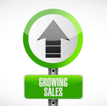 road design: growing sales road sign concept illustration design graphic