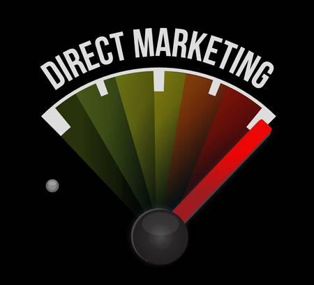 direct marketing: direct marketing meter sign concept illustration design graphic