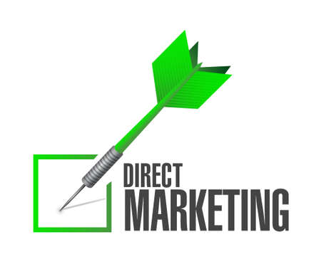 direct marketing: direct marketing check dart sign concept illustration design graphic