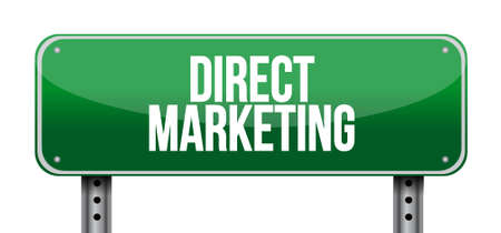 direct marketing: direct marketing road sign concept illustration design graphic