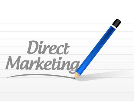 direct marketing: direct marketing message sign concept illustration design graphic