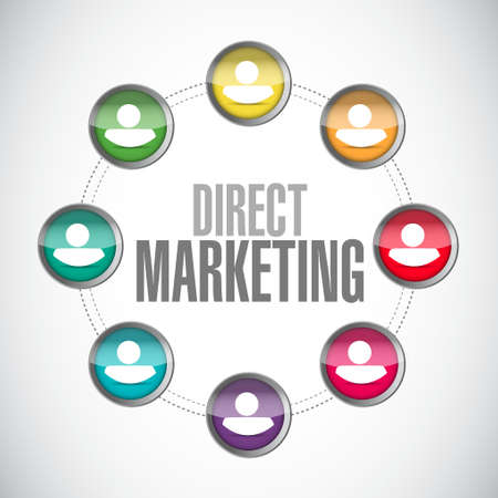 direct marketing: direct marketing network sign concept illustration design graphic