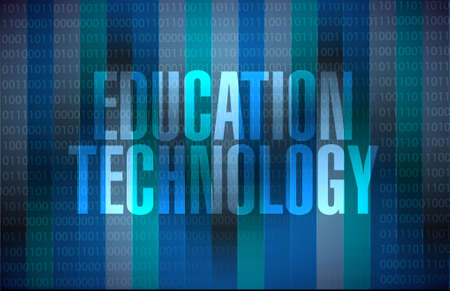 binary background: education technology binary background sign concept illustration design graphic