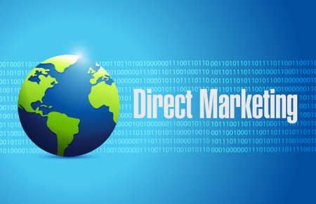 binary globe: direct marketing globe binary sign concept illustration design graphic Illustration