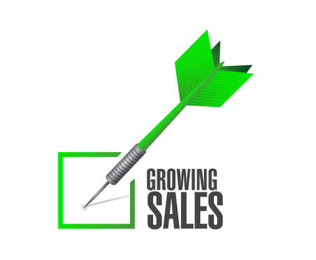 increases: growing sales check dart sign concept illustration design graphic Illustration