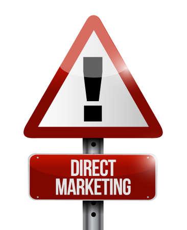 direct marketing waarschuwing verkeersbord concept illustratie grafisch