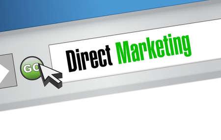 direct marketing: direct marketing website sign concept illustration design graphic