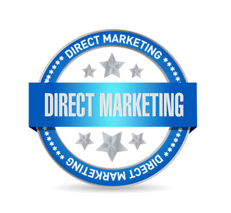 direct marketing: direct marketing seal sign concept illustration design graphic