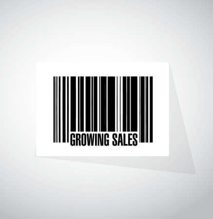 invitation barcode: growing sales barcode sign concept illustration design graphic