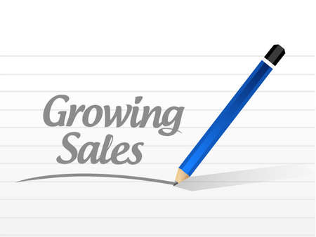 growing sales message sign concept illustration design graphic