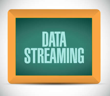 streaming: data streaming chalkboard sign concept illustration design graphic